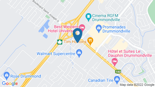 Comfort Inn Drummondville Map