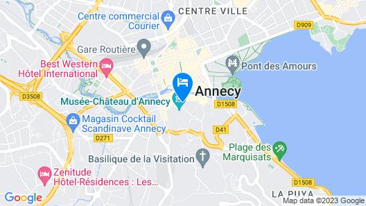 Hôtel du Château Annecy Map