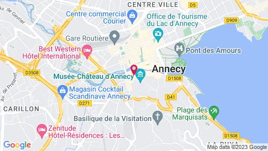 Les loges Annecy Vieille ville Map