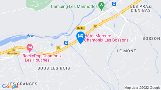 Mercure Chamonix Les Bossons Map