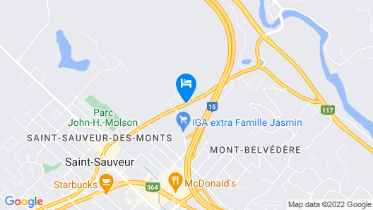 Motel Le JoliBourg Map