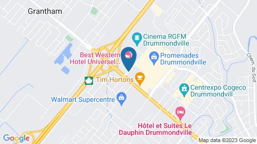 Best Western Hotel Universel Drummondville Map