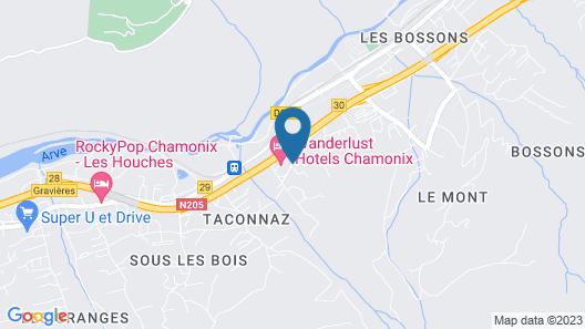 Chalet Les Frenes Map