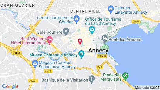 Privilodges Le Royal Annecy Map