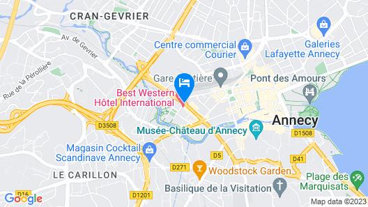 Best Western Hotel International Map