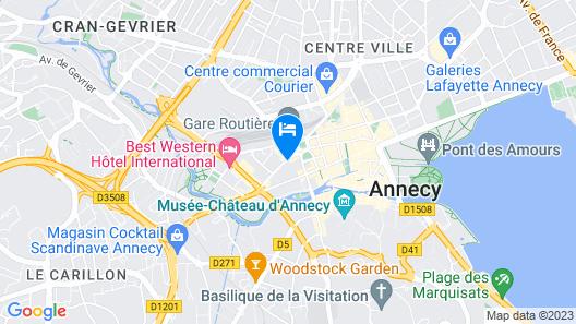 Hébé Hôtel Map