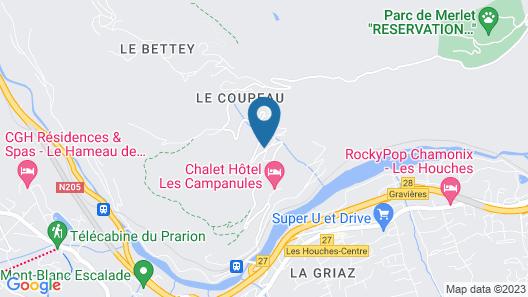 Gîte Les Méandres Map