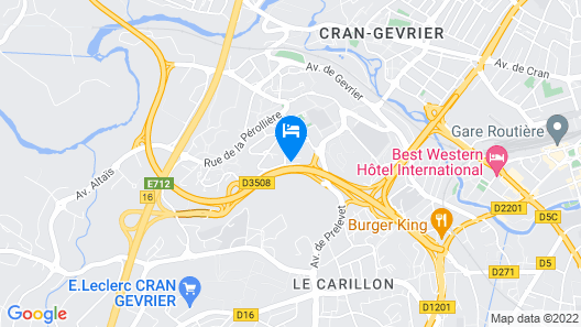 Best Hotel Annecy Map