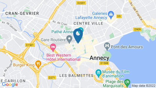 Hôtel des Alpes Map