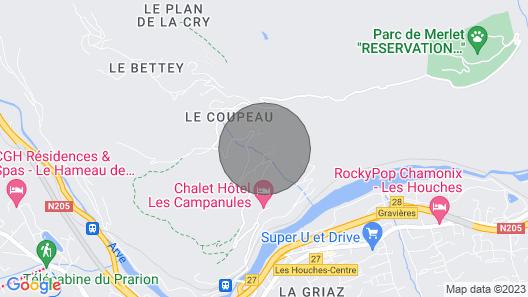 Chalet Serena - Chamonix Map