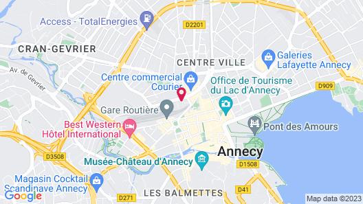 Novotel Annecy Centre Map