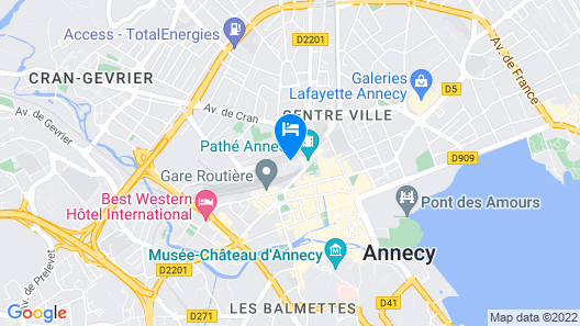 Novotel Annecy Centre Map