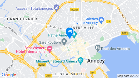 Aparthotel Adagio Annecy Centre Map