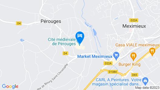 Hostellerie de Pérouges Map