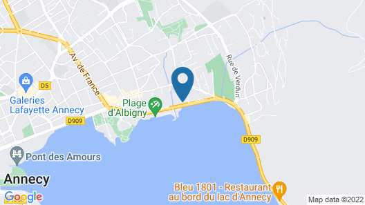 Rivage Hôtel & Spa Annecy Map