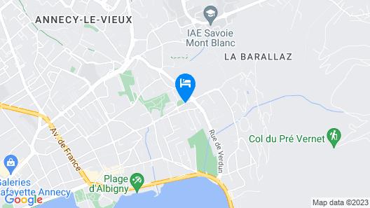 Hôtel Le Flamboyant Map
