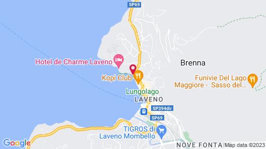 Hotel de Charme Laveno Map