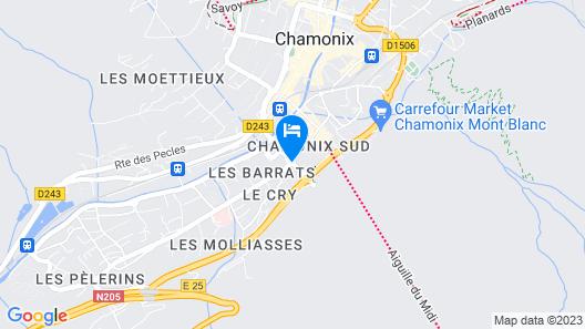 Hôtel Le Refuge des Aiglons Map