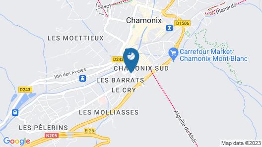 Plan B Hotel - Living Chamonix Map