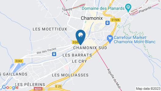 Résidence Pierre & Vacances Chamonix La Rivière Map
