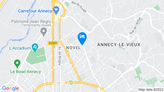 Hotel Novel Restaurant La Mamma Map