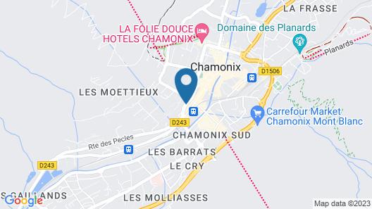 Chalet Hôtel Le Prieuré Map