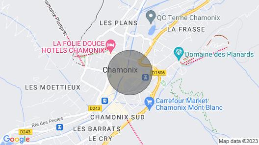 2 Pièces Centre Ville vue Montagne Map