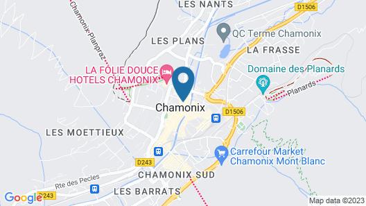 La Croix-Blanche Map