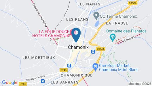 Chalet Hôtel Le Whymper Map