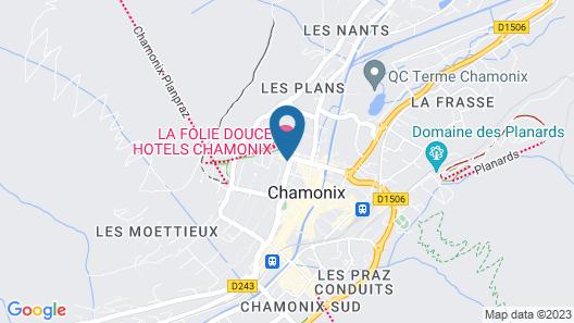 La Folie Douce Hôtel Chamonix - Mont-Blanc Map