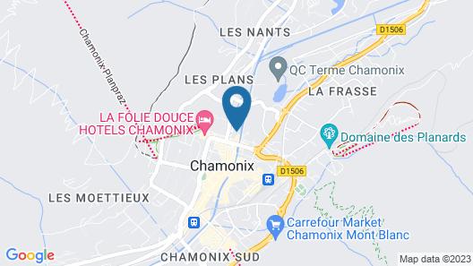 Hôtel de l'Arve Map