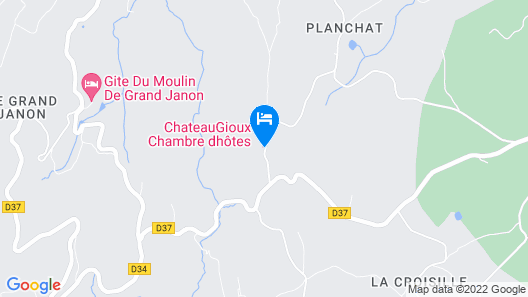 Chateau Gioux Map