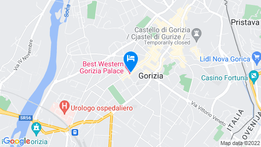 Best Western Gorizia Palace Hotel Map