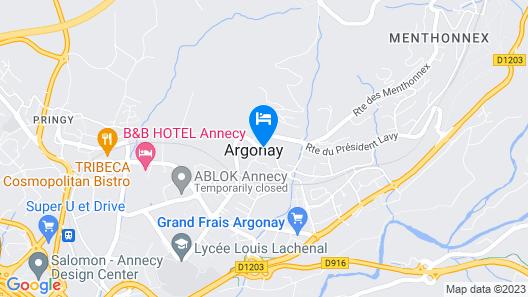Logis Hôtel Annecy Nord / Argonay Map