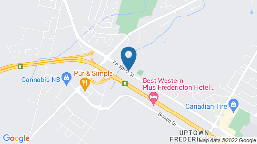 Holiday Inn Express & Suites Fredericton, an IHG Hotel Map