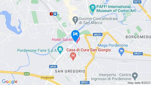 Hotel Santin Map
