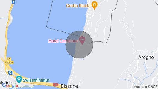 Apartment Lago di Lugano in Bissone - 3 Persons, 1 Bedrooms Map