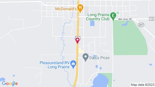 Super 8 by Wyndham Long Prairie Map