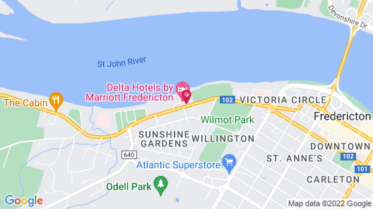 Delta Hotels by Marriott Fredericton Map