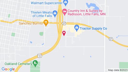 AmericInn by Wyndham Little Falls Map