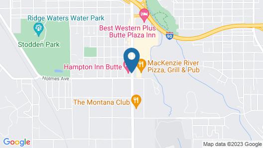 Hampton Inn Butte Map