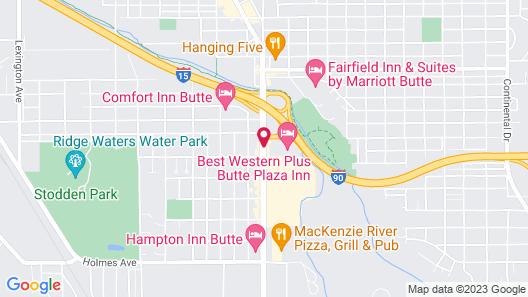 Best Western Plus Butte Plaza Inn Map