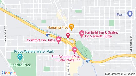 Comfort Inn Butte City Center I-15 / I-90 Map