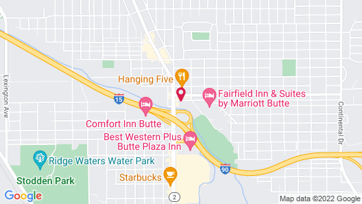Quality Inn & Suites Butte Map