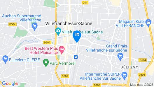 Hotel Mercure Villefranche en Beaujolais Ici & La Map