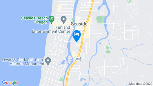 Coast River Inn by OYO Seaside Map