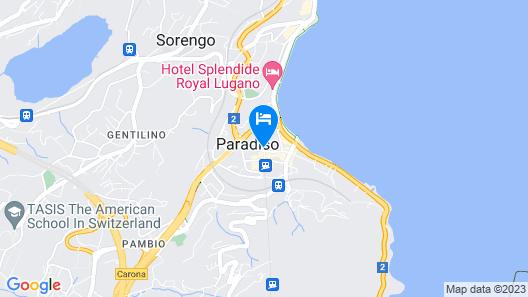 Novotel Lugano Paradiso Map
