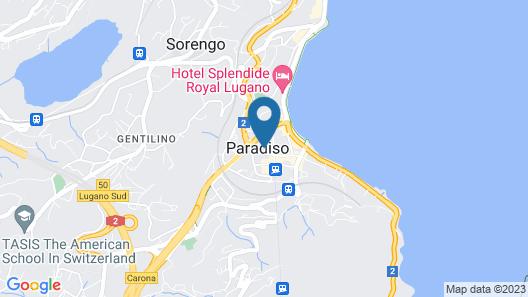 Hotel Dischma Lugano Map