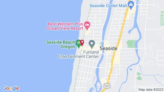 Shilo Inn Suites Hotel - Seaside Oceanfront Map