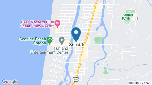 Holiday Inn Express Hotel & Suites Seaside-Convention Center Map